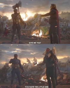 """The Superhero Pro on Instagram: """"Who used the Mjolnir in a better way? Follow @the_superhero_pro for more content. . . . . Tags::#avengers #avengrsendgame…"""""""