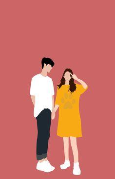 Cute Couple Drawings, Cute Couple Art, Anime Couples Drawings, Cute Anime Couples, Cute Drawings, Kawaii Illustration, Couple Illustration, Portrait Illustration, Cute Couple Wallpaper