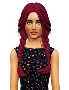 NewSea`s Clover hairstyle retextured by Pocket for Sims 3 - Sims Hairs - http://simshairs.com/newseas-clover-hairstyle-retextured-by-pocket/