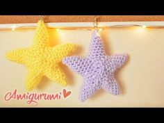 AMIGURUMIS - ESTRELLA CROCHET | Danii's Ways ♡ - YouTube Crochet Fish, Crochet Stars, Crochet Baby, Amigurumi Tutorial, Amigurumi Patterns, Crochet Patterns, Knitting Videos, Barbie Dress, Cute Kids