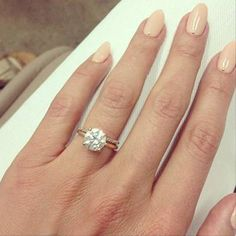 Lauren conrad ring, engagement nails, engagement rings round, wedding e Engagement Nails, Celebrity Engagement Rings, Engagement Rings Round, Perfect Engagement Ring, Lauren Conrad Engagement Ring, Lauren Conrad Ring, Titanium Wedding Rings, Wedding Rings Solitaire, Solitaire Diamond