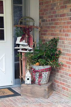 Vintage Olive Baskets and creative ways to use them
