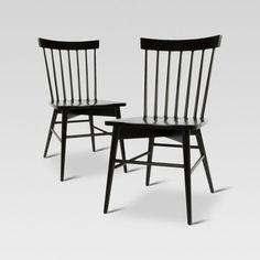 Windsor Dining Chair - Black (Set of 2) - Threshold™ : Target