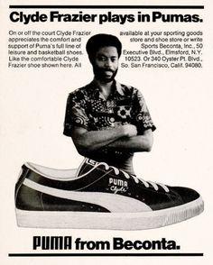 dandyads: Clyde Frazier for Puma, 1974