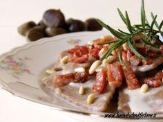 Maltagliati alla Farina di Castagne con Speck, Pinoli e Parmigiano