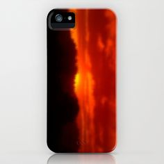 Red Sunset iPhone & iPod Case by Grandmachismo - $35.00