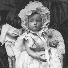 Tatiana as a baby. Royal Russian baby picture