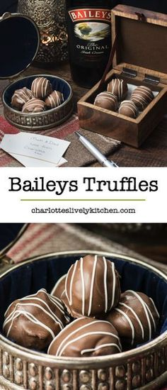 Treat someone you love with homemade Baileys truffles. There are two versions of this recipe my original chocolate coated truffles and a quick and easy version. Both versions taste absolutely delicious and are the perfect gift for someone special.