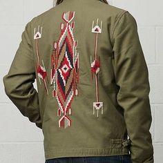 NWT Mens Polo Ralph Lauren Denim and Supply XL Southwest, indian, surplus jacket