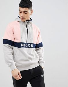 Find the best selection of Nicce retro hoodie in gray with half zip. Shop today with free delivery and returns (Ts&Cs apply) with ASOS! Sports Jumpers, Cool Jackets For Men, Nike Tracksuit, Joggers, Mens Sweatshirts, Hoodies, Nike Half Zip, Men Dress, Shirt Designs