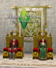 History Lover's Sims Blog: Medieval throne • Sims 4 Downloads