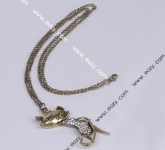 67 cm Sweater Chain Necklace Jewelry Cat Shape Coppery