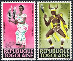Togo #C57 - C58 Stamps  Dancer Type Stamps