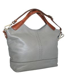 Another great find on #zulily! Stone Gabby Gabi Leather Tote #zulilyfinds