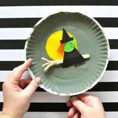 Flying Witch Paper Plate Craft