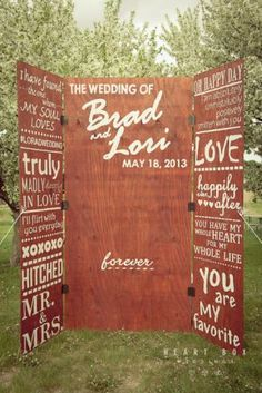 Photo Booth design.  Not wedding though, use newspaper headlines from mom's birthday from different years.