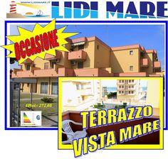 Appartamento Bilocale con Terrazzo VISTA MARE in Centro Lido di Pomposa a soli 50 Mt. dalla Spiaggia e dalla Passeggiata del Lungomare. Comacchio, Emilia Romagna. Euro 69.000,00
