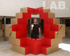 Turning the corrugated paper into freestanding walls and pixilated pavilions the design group is providing advertising venues with a healthier renewable solution