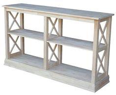 International Concepts Hampton Sofa-Server Table with Shelves $270. feww ship
