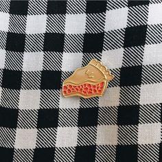 Cherry Pie Lapel Pin - $6.00  http://www.rosehoundapparel.com/products/cherry-pie-lapel-pin