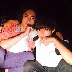 "Kento Yamazaki x Shotaro Mamiya, BTS photo, J drama, sports comedy, ""Suikyu Yankees(Water Polo Yankees), 2014"
