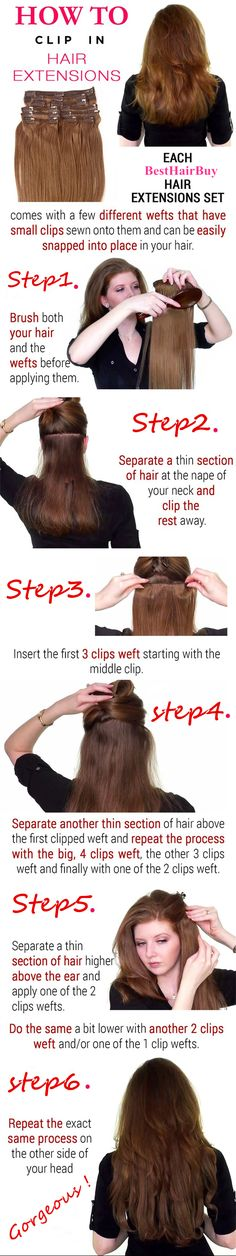 BestHairBuy, Just do some instruction for Clip in hair extensions.