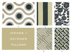 Indoor, Outdoor, Pillow Covers, Tan, Black, Ivory, Cream, Floral, Pillow, Floor, Cushion, Throw, Toss, Deck, Patio, Summer, Pool, Pillow   PRODUCT DETAILS:  - Pillow Cover (insert not included) - Fabric Specifications: Indoor/ Outdoor use. 100% Spun Polyester. - High quality invisible zipper comes standard. - Seams are serged and openings reinforced for a high quality fabrication. - Same fabric on the front and back.   FABRIC SPECIFICATIONS:  This quality décor weight fabric is made for ...