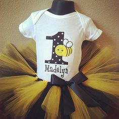 Bumble+Bee+Birthday+Tutu+Set+by+TheTinyCloset+on+Etsy,+$34.95
