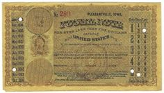 Pleasantville, IA 1883 Postal Note #289 Issued for 2 cents; payable at Jacksonville, FL