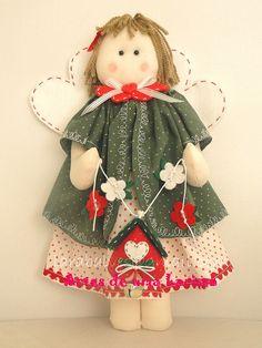 Anjinha de Natal by Artes de uma Larissa, via Flickr