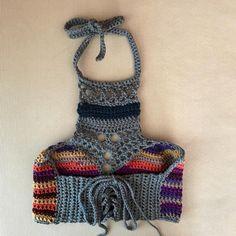 Fabulous Crochet a Little Black Crochet Dress Ideas. Georgeous Crochet a Little Black Crochet Dress Ideas. Crochet Halter Tops, Crochet Bodycon Dresses, Black Crochet Dress, Crochet Bikini, Crochet Shell Stitch, Easy Crochet, Bralette Pattern, Bralette Tops, Crochet Patterns For Beginners