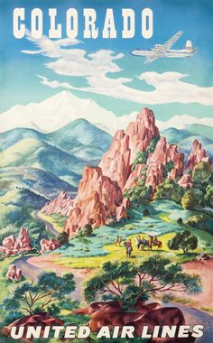 Colorado - United Air Lines by Feher, Joseph   International Poster Gallery