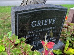 A surname, so fitting: in our city's cemetery.