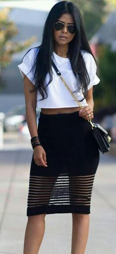 """That skirt!  (=^.^=) Thanks, Pinterest Pinners, for stopping by, viewing, re-pinning, & following my boards.  Have a beautiful day! ^..^ and """"Feel free to share on Pinterest ^..^  #women #topfashion #fashionandclothingblog"""