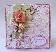 Papierowe chwile zielonejliszki: Róże i pasta strukturalna :-)