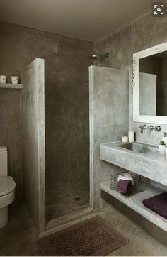 Tadelac #Beachwood bathroom style