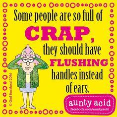 #AuntyAcid some people