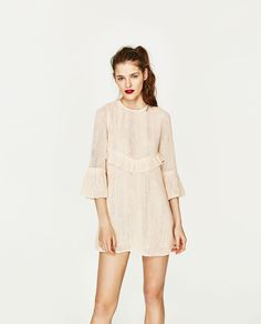 MESH DRESS WITH POMPOMS-View All-DRESSES-WOMAN | ZARA United States