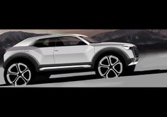 Audi has added its baby alternative model to the Audi car Q family. As the Audi enters the fold of the super performance automobile company, its slated growth figures for the future look good. Audi production will start in Audi Cars, Ferrari Auto, Audi Suv, Mini Countryman, Car Design Sketch, Car Sketch, Bike Sketch, Bmw Motorcycles, Cars Motorcycles
