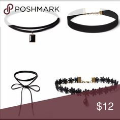 Chokers set 4 pieces Jewelry Necklaces