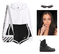 """""""Untitled #347"""" by shania-andrea ❤ liked on Polyvore featuring NIKE and Off-White"""