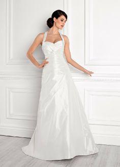Einfach Herzform Neckholder A Line Hochzeitskleider EHS91306013