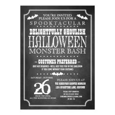 131 best halloween party invites images on pinterest in 2018