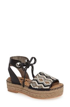 d879db12428e Sam Edelman Sam Edelman Neera Espadrille Platform Sandal (Women) available  at  Nordstrom Black