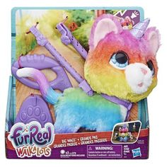 furReal Walkalots Big Wags Unicorn Cat Toy, Ages 4 and up Image 12 of 12 Little Live Pets, Little Girl Toys, Little Girls, Big Girl Toys, Cool Toys For Girls, Baby Girls, Unicorn Cat, Baby Alive, Lol Dolls