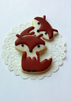 fox cookies // galletas de zorritos