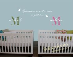 Twin wall decal  Twins decal  Twin nursery by WallapaloozaDecals, $40.00