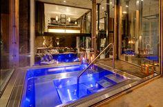 Indoor/outdoor jacuzzi at The Backstage Loft — Zermatt, Switzerland, Luxury Ski Chalets, Ski Boutique