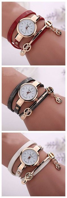 19fd6bddddf fashion new summer style leather casual bracelet watches wristwatch women  dress watches relogios femininos watch - Green Blue Royal Blue One Year  Battery ...