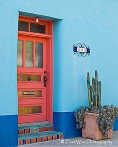 385 Barrio Door Taken In The Tucson Barrio Historico By Fastwinn, $25.00